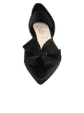 Black satin d'Orsay kitten heel 4