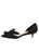 Black satin d'Orsay kitten heel 7