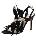 Womens Black Satin Hagan