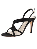Womens Black Satin Hallie