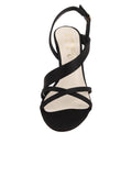 Womens Black Satin Hallie 4