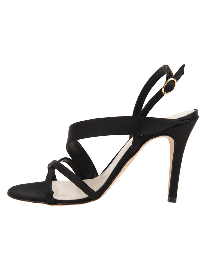 Womens Black Satin Hallie 7