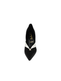 Womens Black/White Selah Pointed Toe Pump 4