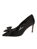 Womens Black Elaina Bow Pump