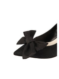 Womens Black Elaina Bow Pump 6