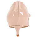 Womens Blush Patent Cliff d'Orsay Kitten Heel 2