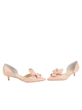 Womens Blush Patent Cliff d'Orsay Kitten Heel 5