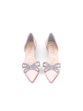 Womens Blush Satin Darla d'Orsay Kitten Heel 5