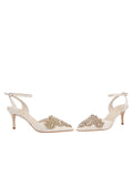 Womens Ivory Satin Emmie Pointed Toe Pump 5