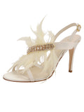 Womens Ivory Satin Hagan