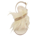 Womens Ivory Satin Hagan 4