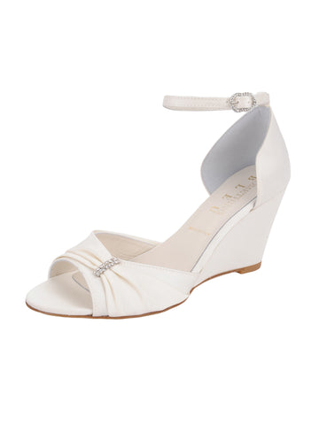 Womens Ivory Satin Queenie Alternate View