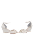 Womens Ivory Satin Queenie 5