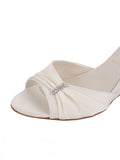 Womens Ivory Satin Queenie 6