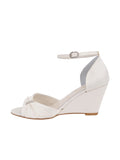 Womens Ivory Satin Queenie 7