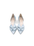 Womens Light Blue Satin Cliff d'Orsay Kitten Heel 5