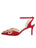 Womens Lipstick Satin Emmie Pointed Toe Pump 7