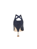 Womens Navy Moire Elsie Pointed Toe Pump 2