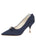 Womens Navy Moire Elsie Pointed Toe Pump Alternate View