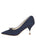 Womens Navy Moire Elsie Pointed Toe Pump 7