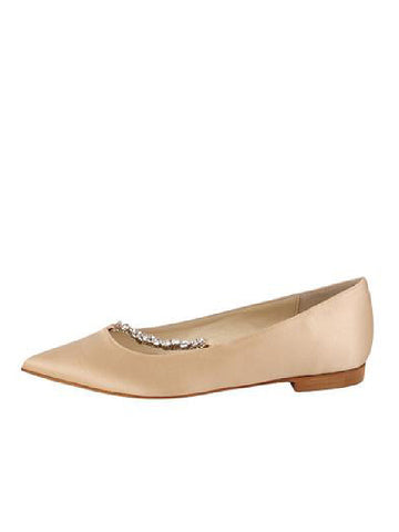 Womens Nude Satin Churro 7