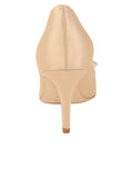 Womens Nude Satin Pointed Toe Pump 2
