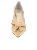 Womens Nude Satin Pointed Toe Pump 4
