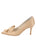 Womens Nude Satin Pointed Toe Pump 7