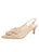 Womens Nude Satin Natalia Pointed Toe Slingback Alternate View