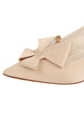 Womens Nude Satin Natalia Pointed Toe Slingback 6