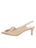 Womens Nude Satin Natalia Pointed Toe Slingback 7