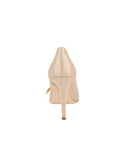 Womens Nude Satin Sasha Pointed Toe Pump 2