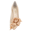 Womens Nude Satin Sasha Pointed Toe Pump 4