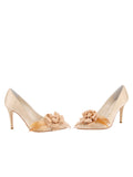 Womens Nude Satin Sasha Pointed Toe Pump 5