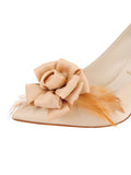 Womens Nude Satin Sasha Pointed Toe Pump 6