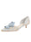 Womens Pearl Blue Romance Cliff d'Orsay Kitten Heel Alternate View