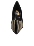 Womens Platinum Stripe Metallic Erika Pointed Toe Pump 4