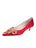 Womens Red Satin Brinsley Pointed Toe Kitten Heel Alternate View