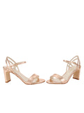 Womens Rose Gold Nappa Lux Grace Sandal 5