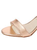 Womens Rose Gold Nappa Lux Grace Sandal 6