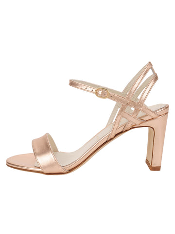 Womens Rose Gold Nappa Lux Grace Sandal 7