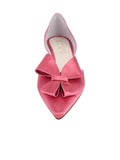 Womens Rose Pink Satin Cliff d'Orsay Kitten Heel 4
