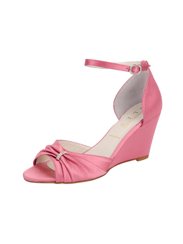 Womens Rose Pink Satin Queenie Alternate View