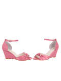 Womens Rose Pink Satin Queenie 5
