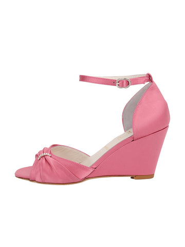 Womens Rose Pink Satin Queenie 7
