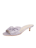 Womens Silver/Lilac Satin Butterfly