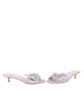 Womens Silver/Lilac Satin Butterfly 5