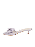 Womens Silver/Lilac Satin Butterfly 7