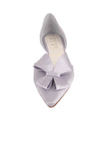 Womens Silver/Lilac Satin Cliff d'Orsay Kitten Heel 4