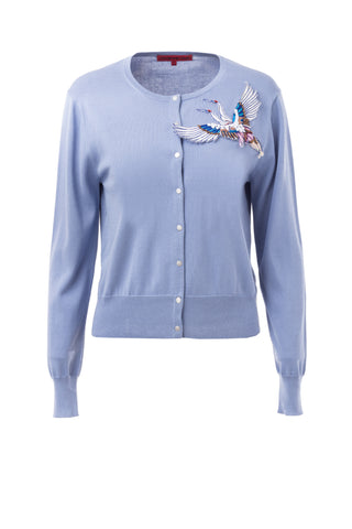 Womens Aster Aster Double Flying Crane Cardigan